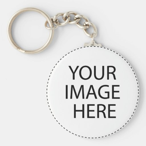 Add Your Image or Text Here Basic Round Button Keychain