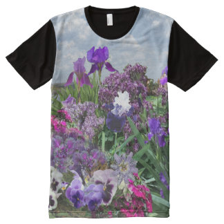add your image Shades of purple t-shirt