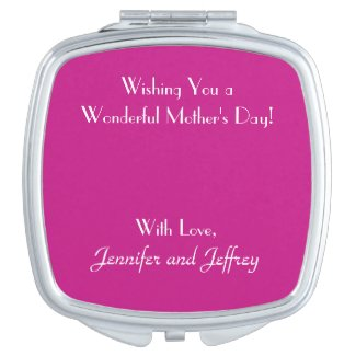 Add Your Image, Your Text, Custom Compact Mirror