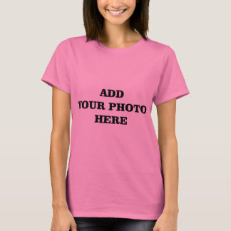 Add Your Images Here Christmas DIY Photo T-Shirt