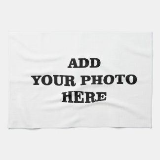 Add Your Images Here Christmas DIY Photo Towel