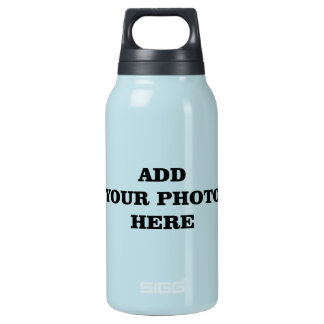 Add Your Images Here DIY Photo Insulated Water Bottle