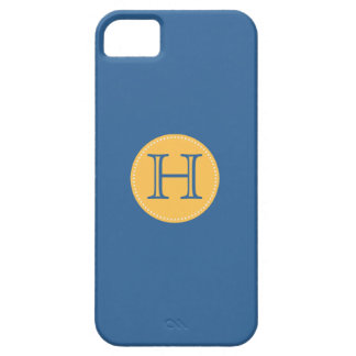 ADD YOUR INITIALS! BLUE AND YELLOW iPHONE 5 CASE