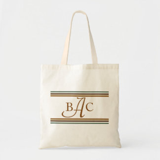 Add Your Initials Monogram Tote Bag