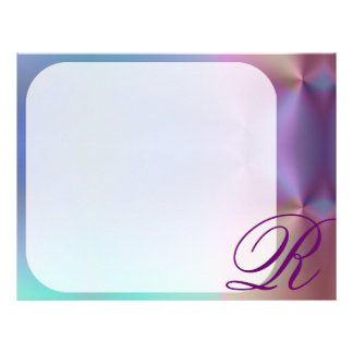 Add your letter - colorful monogram letterhead