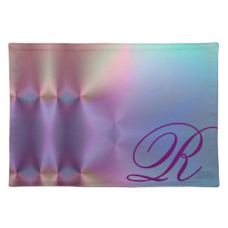 Add your letter - colorful monogram placemat