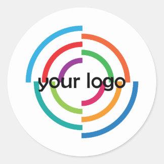 ADD Your LOGO CUSTOM company business CORPORATE Classic Round Sticker