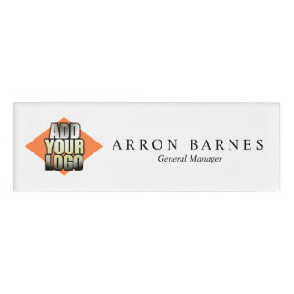 Add Your Logo Employee Staff Magnetic Name Tag