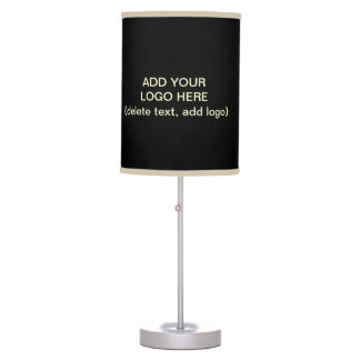 Add Your Logo Here Black and Khaki Desk Lamp