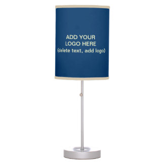 Add Your Logo Here Blue Desk Lamp