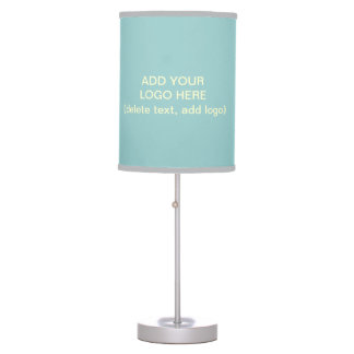 Add Your Logo Here Desk Lamp (Pale Blue)