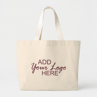 add your logo jumbo tote bag
