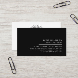Black and white business cards templates zazzle add your logo modern black and white business card colourmoves