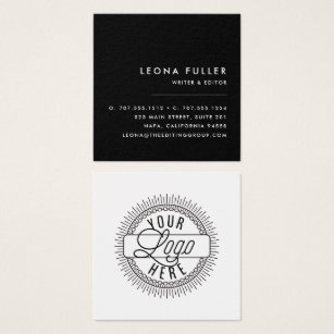 Freelance business cards templates zazzle add your logo modern black and white square business card wajeb Images