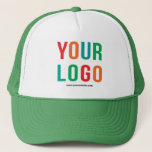 """Add Your Logo, No Minimum Promotional Logo Trucker Hat<br><div class=""""desc"""">Easily personalize this high quality promotional hat with your own company logo and custom text. Simply delete the text if you just need a logo. No minimum and no set up fee! Available in many colors. Logo Hats are an easy and effective way to create and increase your brand awareness...</div>"""