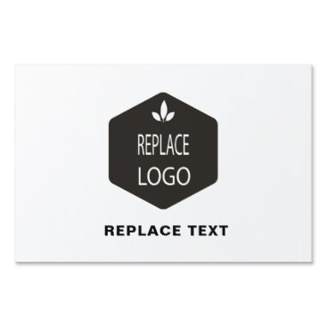 Add Your Logo | Photo and Business INFO Sign