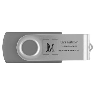 Add your Logo Professional Business Monogram Flash Drive