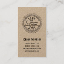 Add Your Logo | Rustic Modern Kraft Business Card