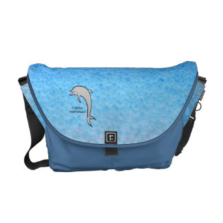 Add Your Logo to Blue Water Messenger Bag