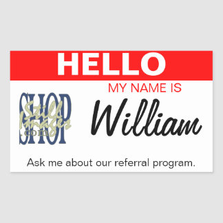 Add Your Logo to this Custom Name Tag