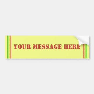 Add Your Message Bumper Sticker
