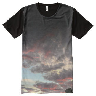 add your message clouds t-shirt