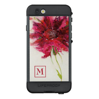 Add Your Monogram | Pink Daisy on White LifeProof® NÜÜD® iPhone 6s Case