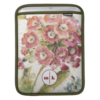 Add Your Monogram | Pink Primrose Sleeve For iPads