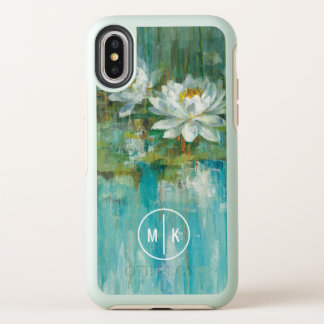 Add Your Monogram | Water Lily Pond OtterBox Symmetry iPhone X Case