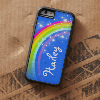 Add your name 5 letter rainbow blue iphone case tough xtreme iPhone 6 case