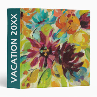 Add Your Name | Autumn Joy Flowers 3 Ring Binder