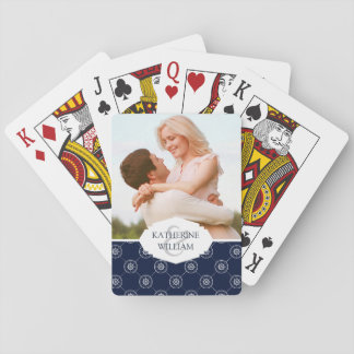 Add Your Name | Captain'S Wheel Pattern Playing Cards
