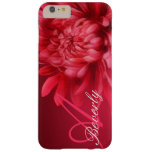Add your name chrysanthemum red hue iphone case barely there iPhone 6 plus case