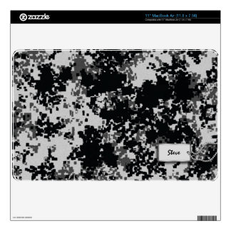 Add your name - Digital Black and White Camo Skins For MacBook Air