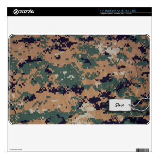 Add your name - Digital Brown and Green Camo Skins For MacBook Air