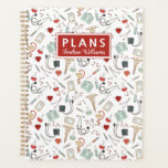 "Add Your Name | Doctor Nurse Pattern Planner<br><div class=""desc"">This design features various objects related to the medical field.</div>"