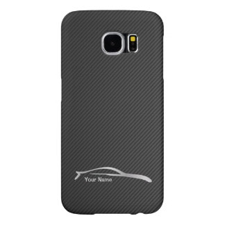 Add your name  - G35 Coupe Silver Silhouette Samsung Galaxy S6 Case