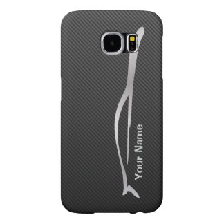 Add your name  - G35 Coupe Silver Silhouette Samsung Galaxy S6 Cases
