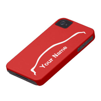 """add your name"" G35 Sedan w/ vibrant red iPhone 4 Case"