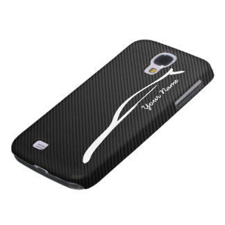 Add your name - G35 white silhouette logo Samsung Galaxy S4 Cover