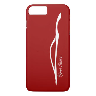 """add your name"" G37 White Silhouette - Red iPhone 8 Plus/7 Plus Case"