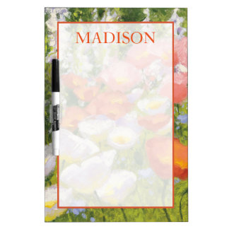 Add Your Name | Garden Pastels Dry Erase Board