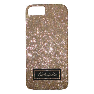 Add Your Name: Golden Bronze Glimmer Look Case