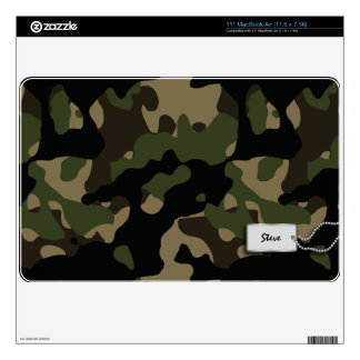 "Add your name - Green, Brown, Tan and Black Camo Skins For 11"" MacBook Air"