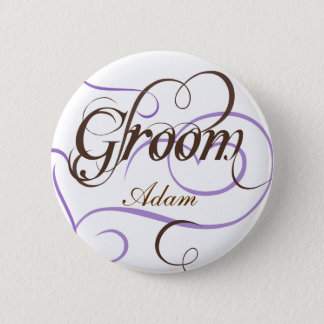 Add Your Name Groom Wedding Button