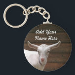 "Add Your Name Here Goat Keychain<br><div class=""desc"">Can&#39;t find a keychain with your name on it? Now you can add your own name - click customize and change the text. It is easy and professional.</div>"