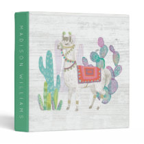 Add Your Name | Lovely Llamas V 3 Ring Binder