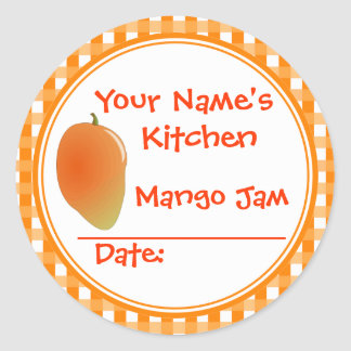 Add Your Name Mango Jam Canning Jar Lid Stickers