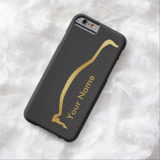 Add your name - Mitsubishi EVO gold silhouette Barely There iPhone 6 Case
