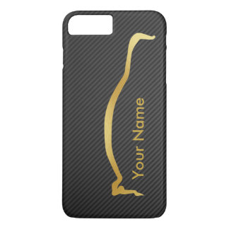 Add your name - Mitsubishi EVO gold silhouette iPhone 7 Plus Case
